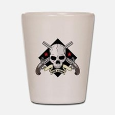 Lock and Load Skull and Guns Shot Glass