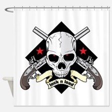 Lock and Load Skull and Guns Shower Curtain