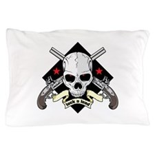 Lock and Load Skull and Guns Pillow Case