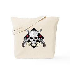 Lock and Load Skull and Guns Tote Bag