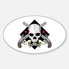 Lock and Load Skull and Guns Decal