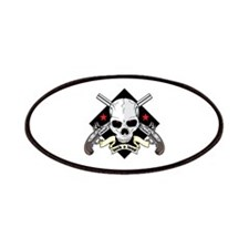 Lock and Load Skull and Guns Patches