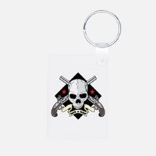 Lock and Load Skull and Gu Keychains