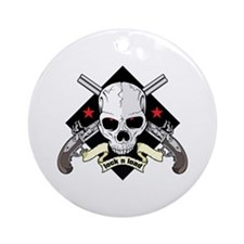 Lock and Load Skull and Guns Ornament (Round)
