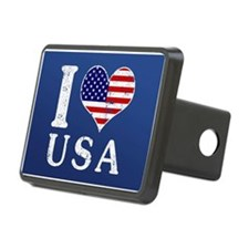 I LOVE USA Hitch Cover