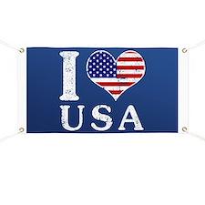 I LOVE USA Banner