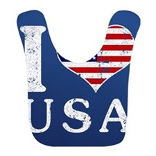 I LOVE USA Bib