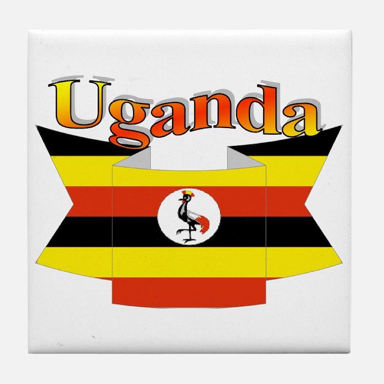 Ugandan ribbon Tile Coaster