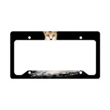 The Lonely Fox License Plate Holder