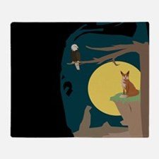Silence Night by the Fox and the Eagle Throw Blank