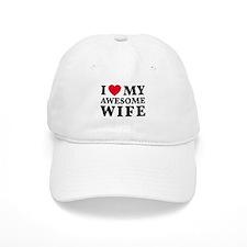 I love my awesome wife Baseball Baseball Cap