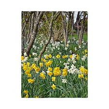 Yellow spring daffodils Twin Duvet