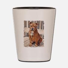 Staffordshire Bull Terrier Puppy Shot Glass