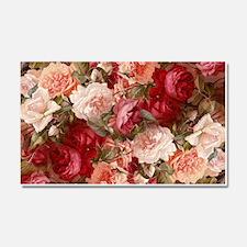 Floral Pink Roses Car Magnet 20 x 12