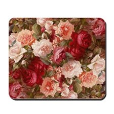 Floral Pink Roses Mousepad