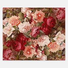 Floral Pink Roses King Duvet