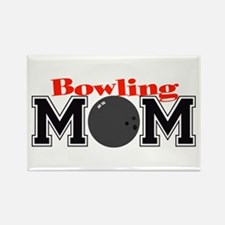 Bowling Mom Rectangle Magnet