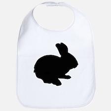 Black Silhouette Easter Bunny Bib