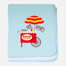 Hot Diggity baby blanket