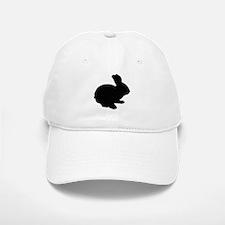 Black Silhouette Easter Bunny Baseball Baseball Baseball Cap