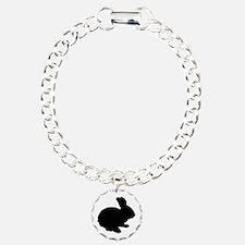 Black Silhouette Easter Bunny Bracelet