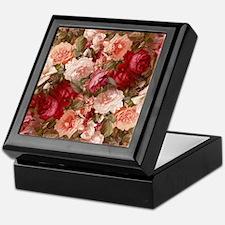 Floral Pink Roses Keepsake Box