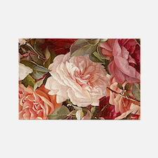Floral Pink Roses Magnets