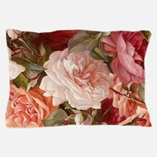 Floral Pink Roses Pillow Case