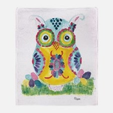 Easter Owl 1 Throw Blanket