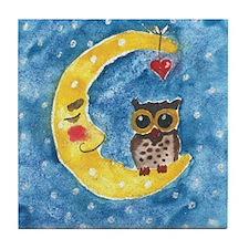 September Owl 1 Tile Coaster