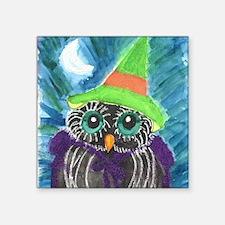 "October Owl 1 Square Sticker 3"" x 3"""