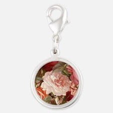 Floral Pink Roses Charms