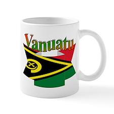Ribbon flag Vanuatu Mug