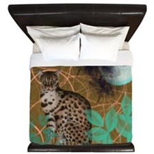 Jungle Cat Scene King Duvet