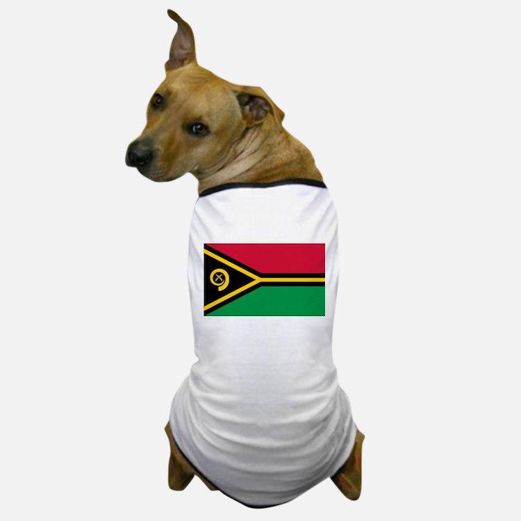 Vanuatu flag Dog T-Shirt