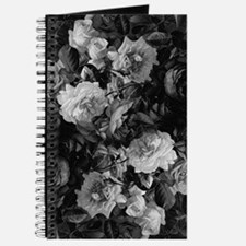 Floral Grey Roses Journal