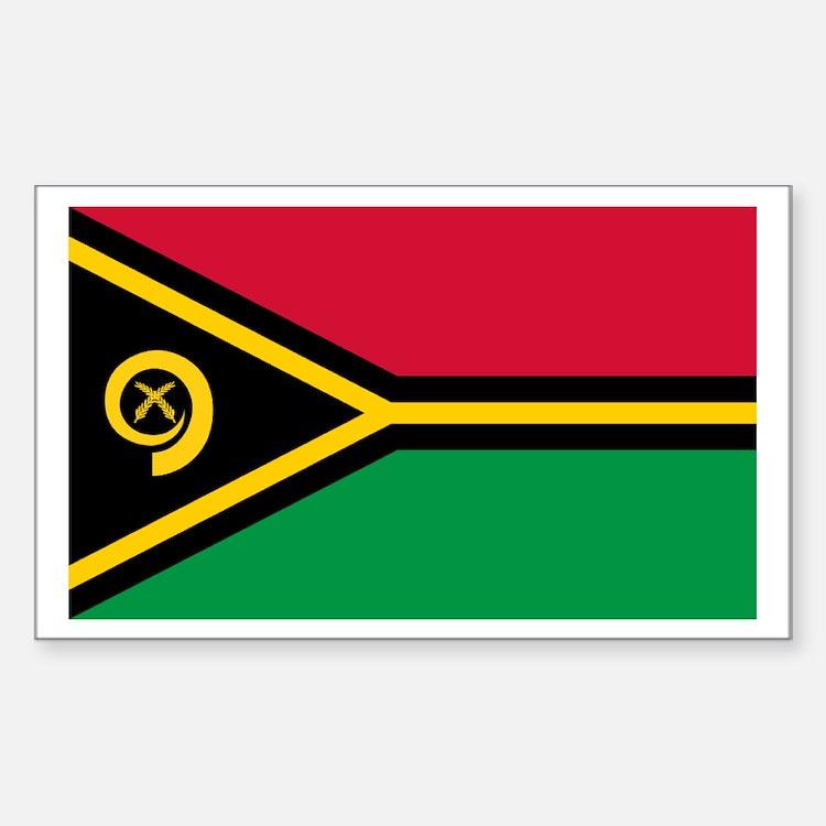 Vanuatu flag Rectangle Decal