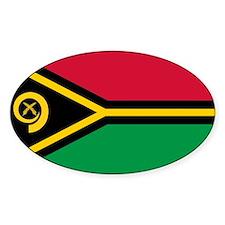 Vanuatu flag Oval Decal