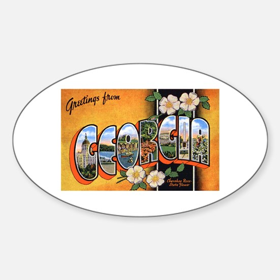 Georgia Greetings Oval Decal