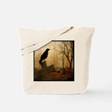 Crow On Cross Tote Bag
