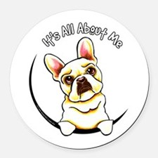 Fawn Frenchie IAAM Round Car Magnet