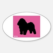 Bolognese iPet Oval Decal