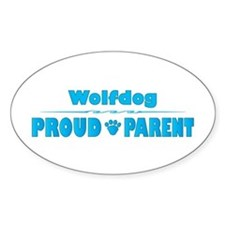 Wolfdog Parent Oval Decal