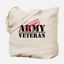 Proud Army Veteran Tote Bag