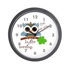 Owl See You In The Morning Wall Clock