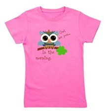 Owl See You In The Morning Girl's Tee