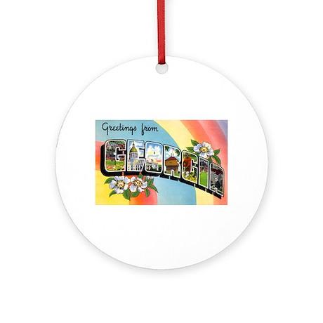 Georgia Greetings Ornament (Round)