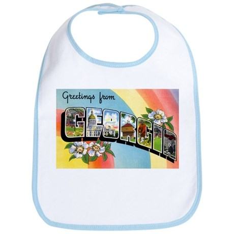 Georgia Greetings Bib