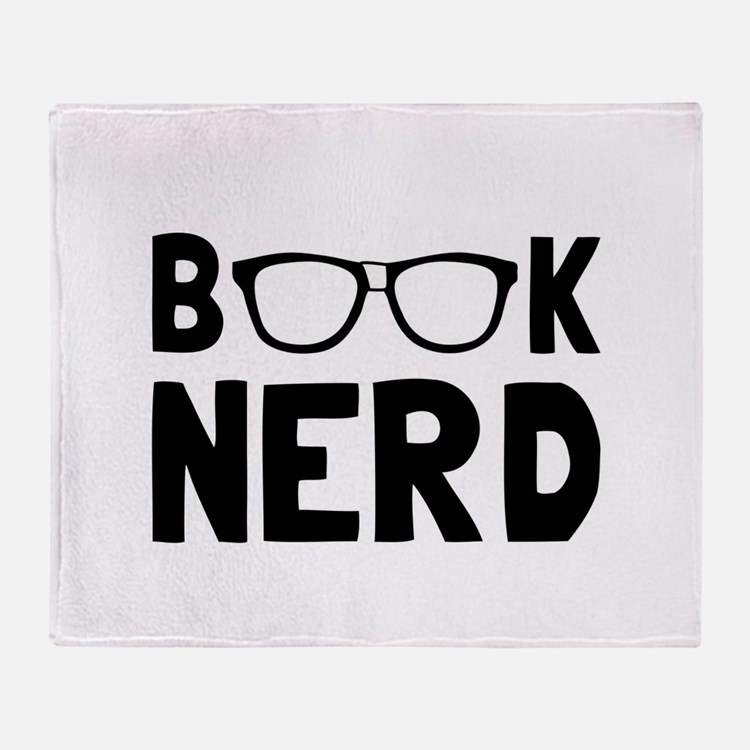 Book Nerd Throw Blanket