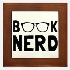 Book Nerd Framed Tile